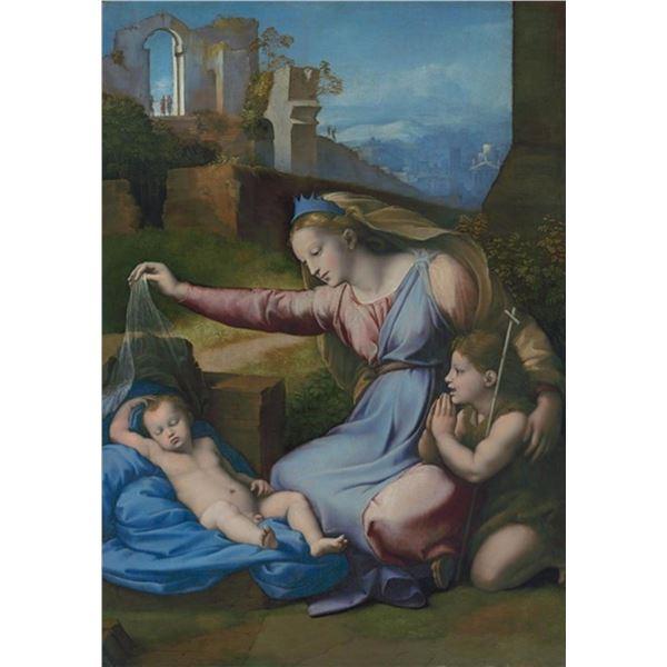 Raphael Gianfrancesco Penni - Madonna with the Blue Diadem