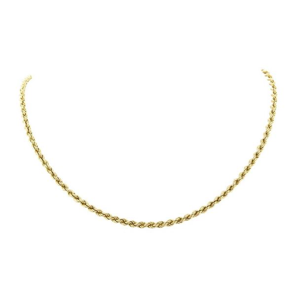 20 Inch Rope Chain - 14KT Yellow Gold