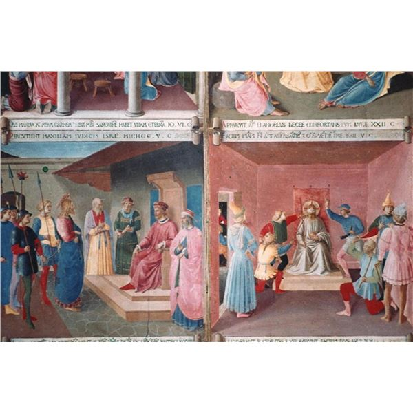 Fra Angelico - Christ in Front of Pilate