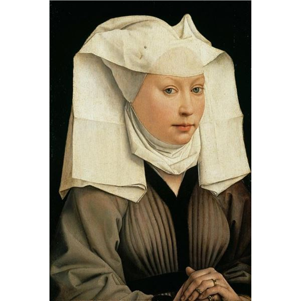 Weyden - Portrait of a Woman with a Winged Bonnet