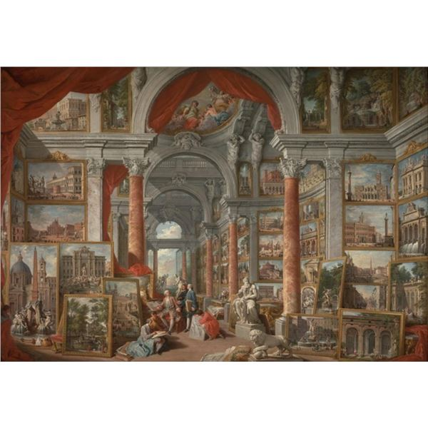 Pannini - Picture Gallery with Views of Rome
