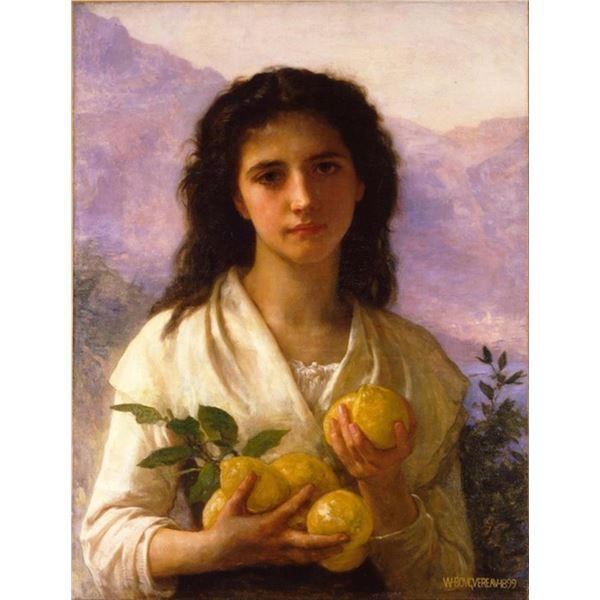 William Bouguereau  - Girl Holding Lemons
