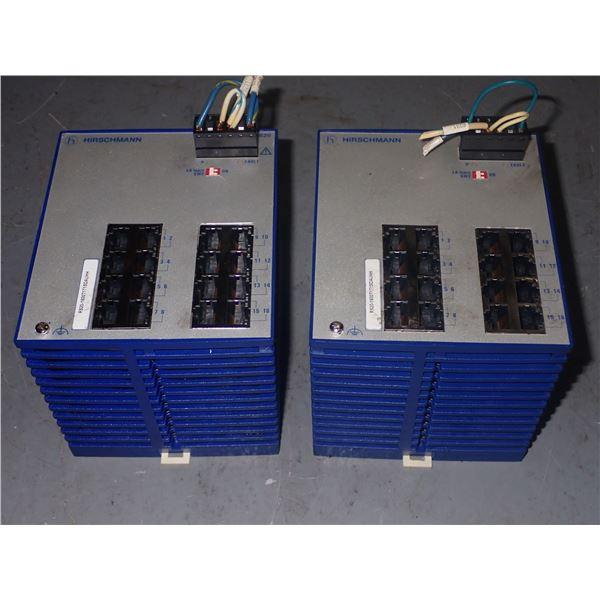 Lot of (2) Hirschmann  #RS20-1600T1T1SDAUHH Rail Switches