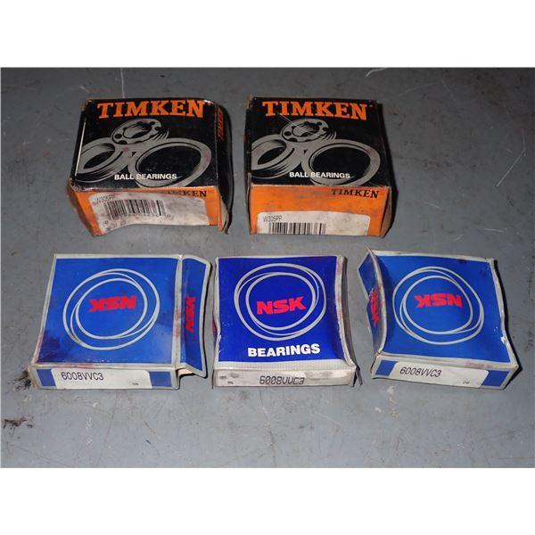 Lot of Timken #W305PP & NSK Bearings