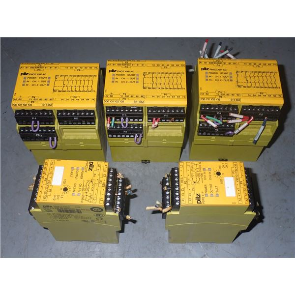 Lot of PILZ (2) #PSWZ-X1P (3)  SAFETY RELAYS