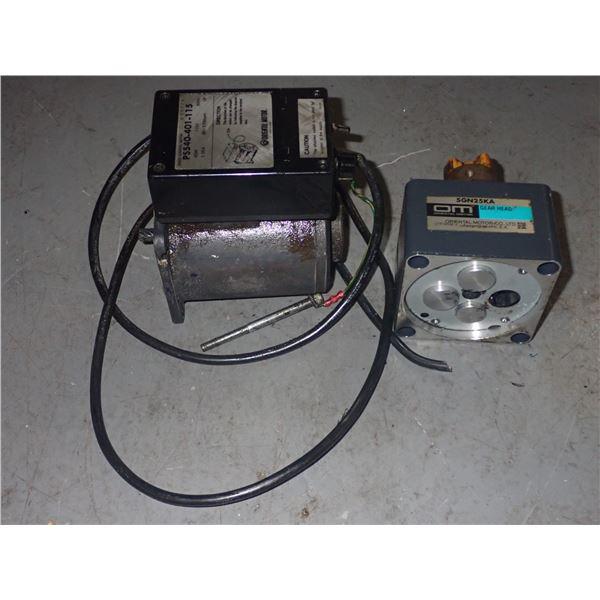 Lot of Oriental Motor #PS540-401-115 & #5GN25KA