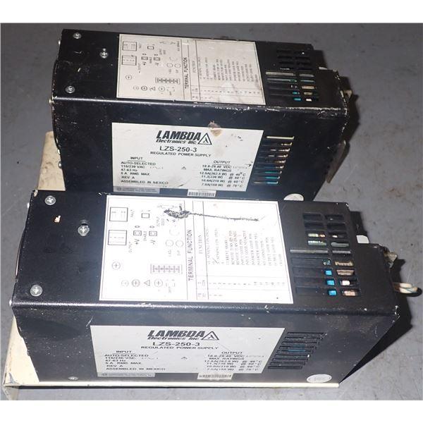 Lot of (2) Lambda #LZS-250-3 Power Supplies