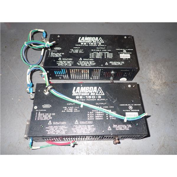 Lot of (2) Lambda #SE-150-3 Power Supplies