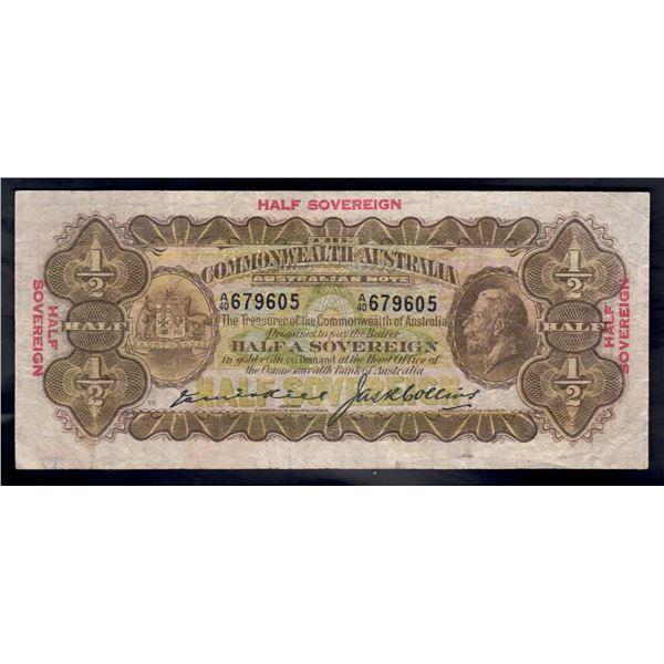 AUSTRALIA 10/- .1926. Kell-Collins