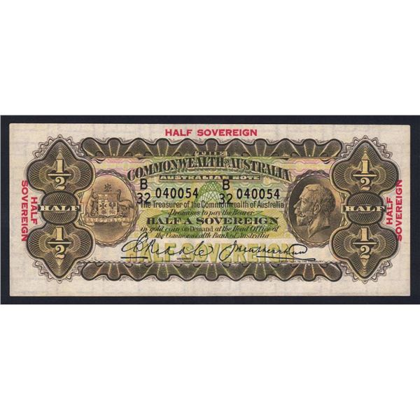 AUSTRALIA 10/-. 1927. Riddle-Heathershaw