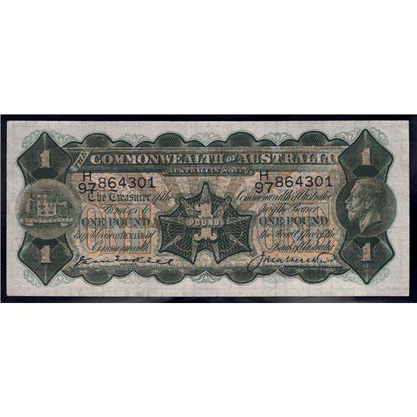 AUSTRALIA £1. 1927. Kell-Heathershaw
