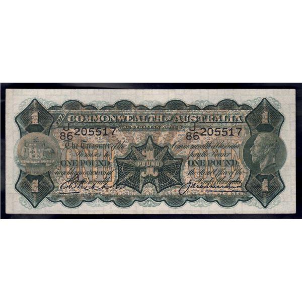 AUSTRALIA £1. 1927. Riddle-Heathershaw