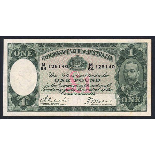 AUSTRALIA £1. 1933. Riddle-Sheehan