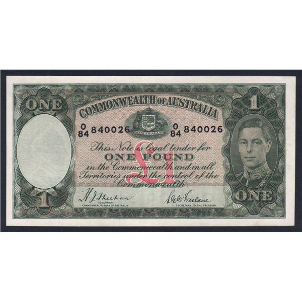 AUSTRALIA £1. 1938. Sheehan-McFarlane. RAREST SIGNATURE VARIETY