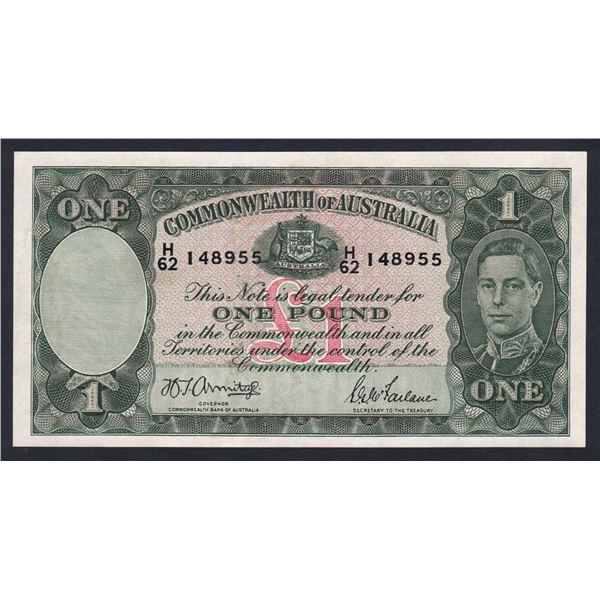 AUSTRALIA £1. 1942. Armitage-McFarlane. DARK GREEN