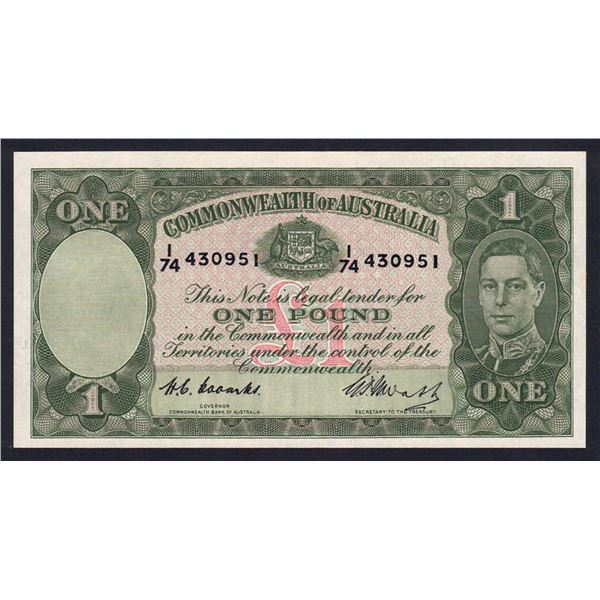 AUSTRALIA £1. 1949. Coombs-Watt