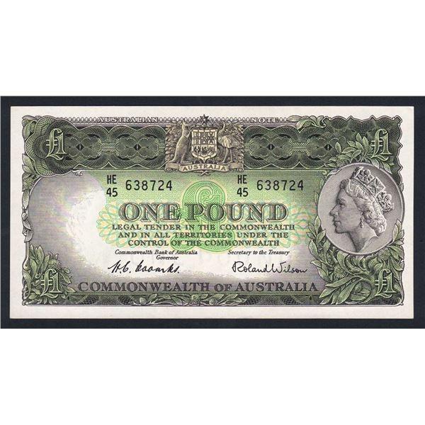 AUSTRALIA £1. 1953. Coombs-Wilson. COMMONWEALTH BANK