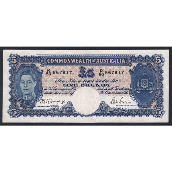 AUSTRALIA £5. 1941. Armitage-McFarlane. WWII ISSUE