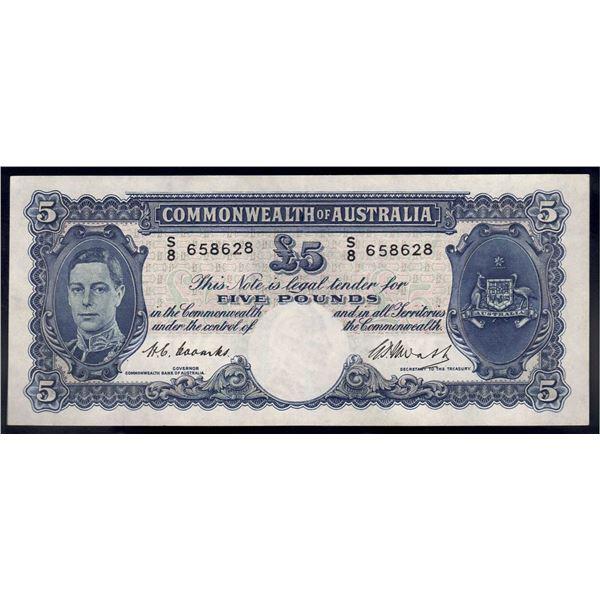 AUSTRALIA £5. 1949. Coombs-Watt