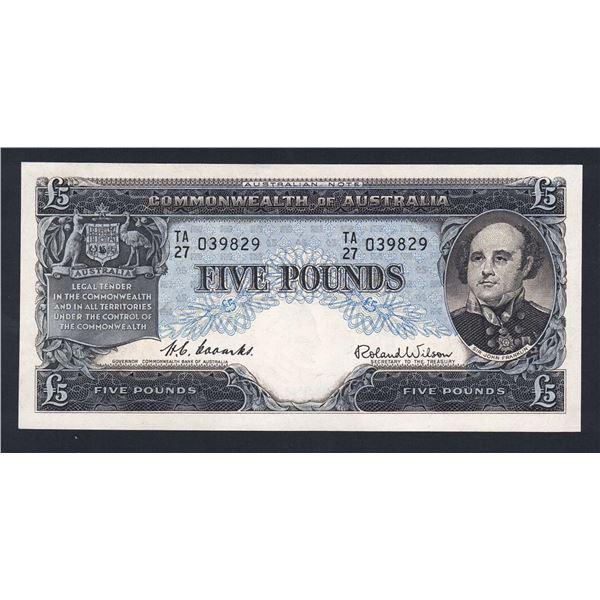 AUSTRALIA £5. 1954. Coombs-Wilson. COMMONWEALTH BANK