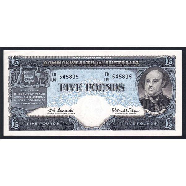 AUSTRALIA £5. 1960. Coombs-Wilson. RESERVE BANK