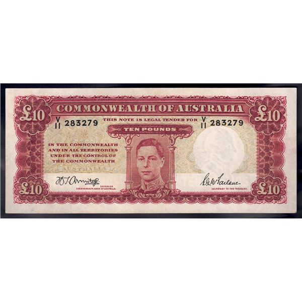 AUSTRALIA £10. 1943. Armitage-McFarlane. WWII ISSUE