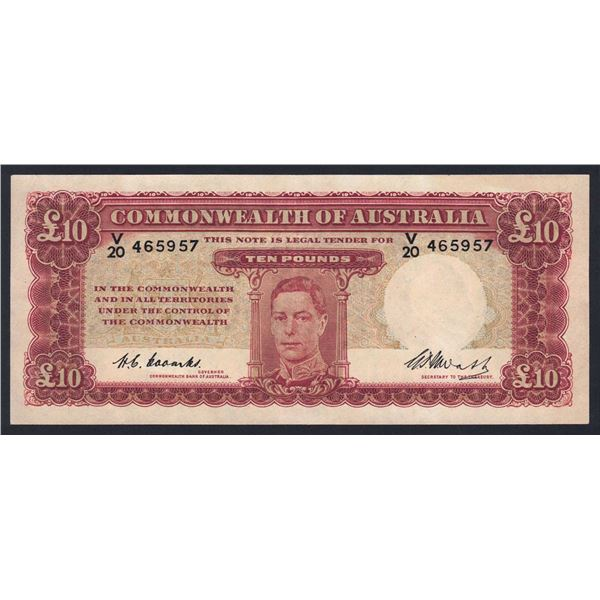 AUSTRALIA £10. 1949. Coombs-Watt