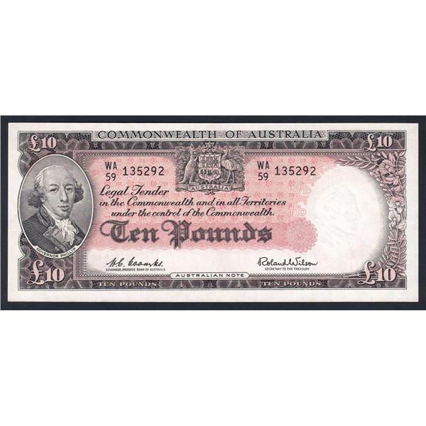 AUSTRALIA £10. 1960. Coombs-Wilson. RESERVE BANK