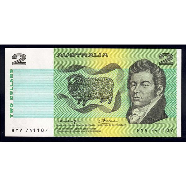 AUSTRALIA $2. 1976. Knight-Wheeler. OCRB SERIAL/SIDE THREAD