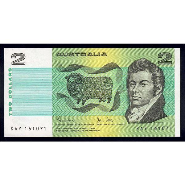 """AUSTRALIA $2. 1983. Johnston-Stone. NAME PREFIX """"KAY"""""""