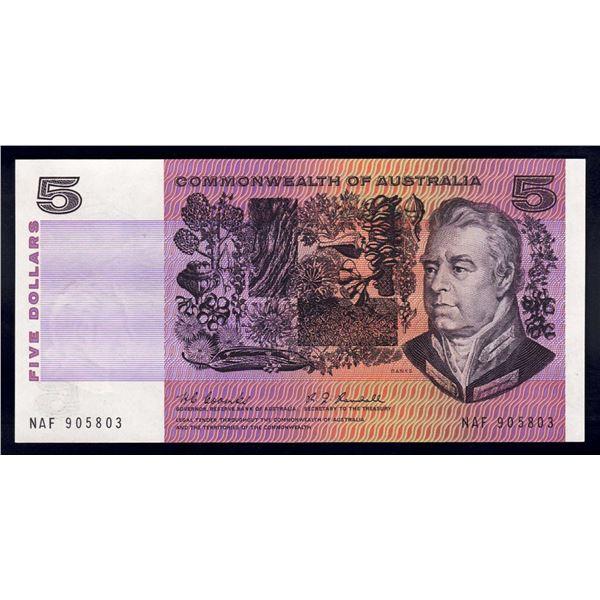 AUSTRALIA $5. 1967. Coombs-Randall. 1ST DECIMAL ISSUE