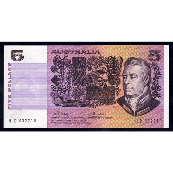 "AUSTRALIA $5. 1974. Phillips-Wheeler. 1ST ""AUSTRALIA"" TITLE"