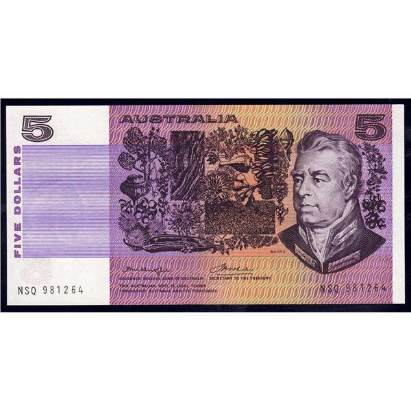 AUSTRALIA $5. 1976. Knight-Wheeler. GOTHIC SERIAL/CENTRE THREAD