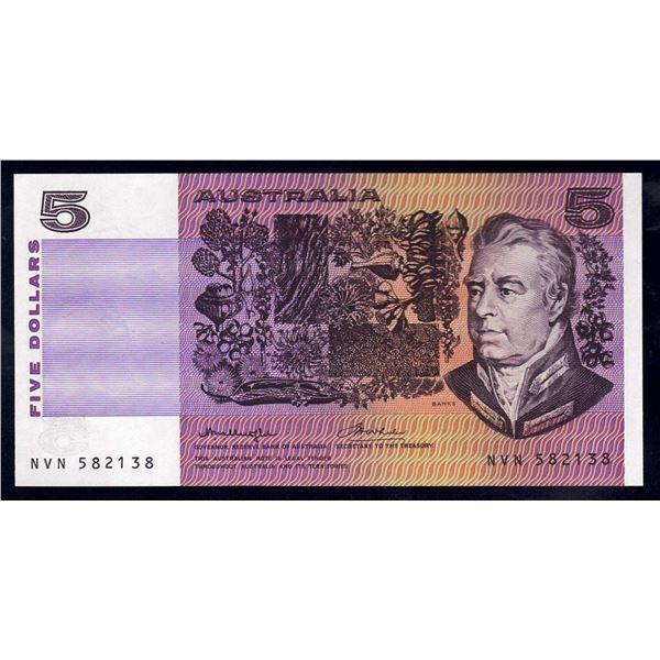 AUSTRALIA $5. 1976. Knight-Wheeler. OCRB SERIAL/SIDE THREAD