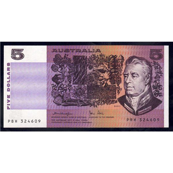 AUSTRALIA $5. 1979. Knight-Stone