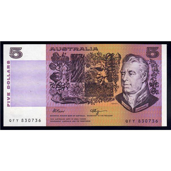 AUSTRALIA $5. 1990. Fraser-Higgins. SHORT ISSUE