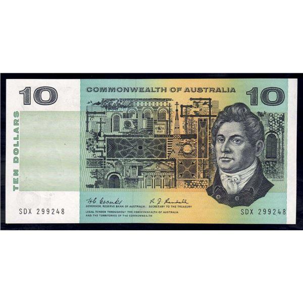 AUSTRALIA $10. 1967. Coombs-Randall. RAREST SIGNATURES