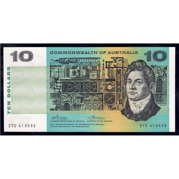 "AUSTRALIA $10. 1972. Phillips-Wheeler. LAST ""COMMONWEALTH"" TITLE"