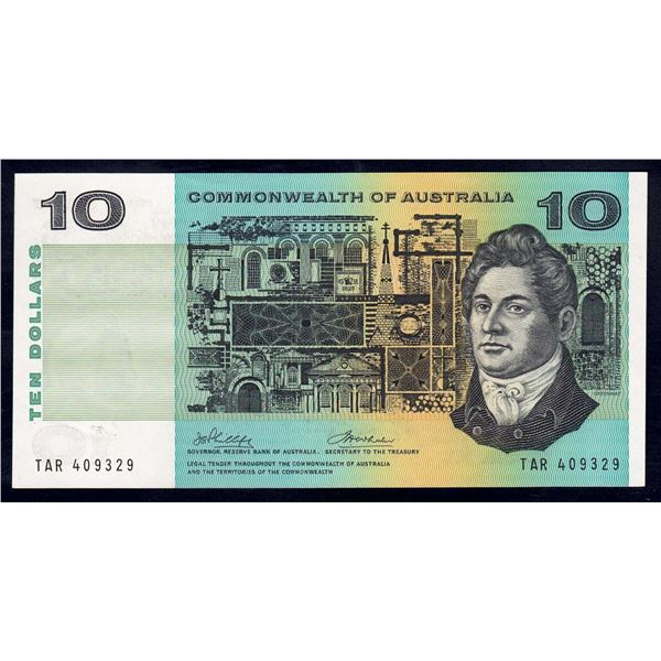 "AUSTRALIA $10. 1972. Phillips-Wheeler. WORD PREFIX ""TAR"""