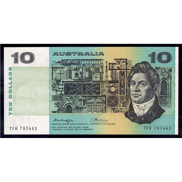 AUSTRALIA $10. 1976. Knight-Wheeler. CENTRE THREAD