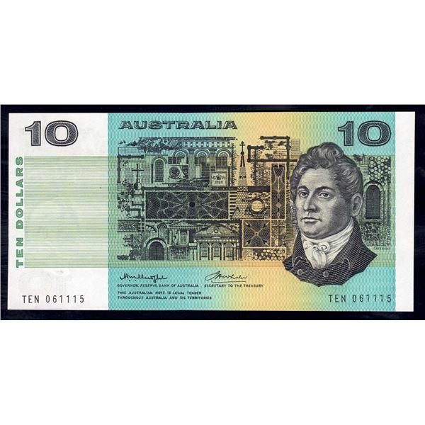"""AUSTRALIA $10. 1976. Knight-Wheeler. RARE 1ST PREFIX """"TEN"""" + LUCKY SERIAL NO """"111"""""""