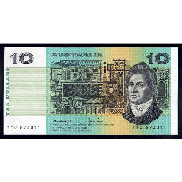 AUSTRALIA $10. 1979. Knight-Stone. OCRB SERIAL