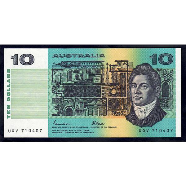 AUSTRALIA $10. 1985. Johnston-Fraser