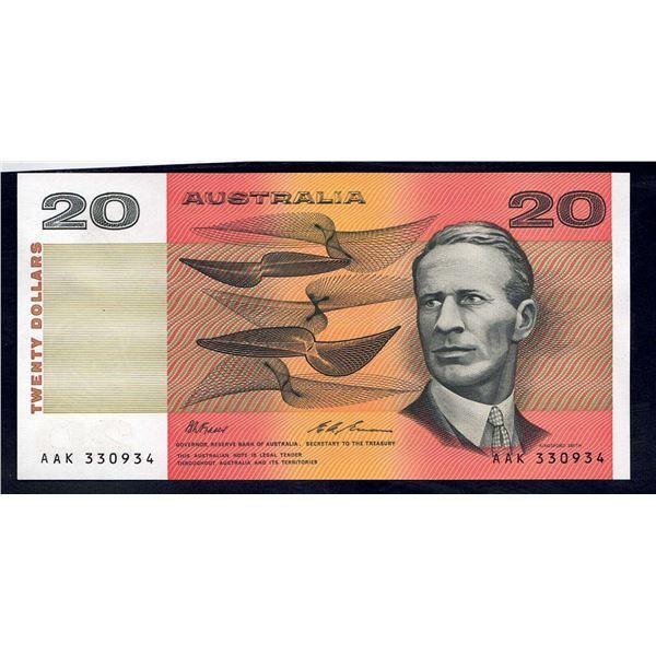 AUSTRALIA $20. 1993. Fraser-Evans. LAST PAPER ISSUE