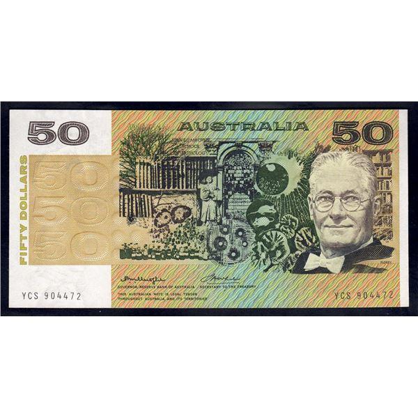 AUSTRALIA $50. 1975. Knight-Wheeler. SIDE THREAD