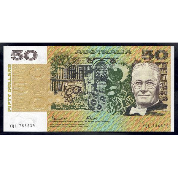 AUSTRALIA $50. 1985. Johnston-Fraser. GOTHIC SERIAL