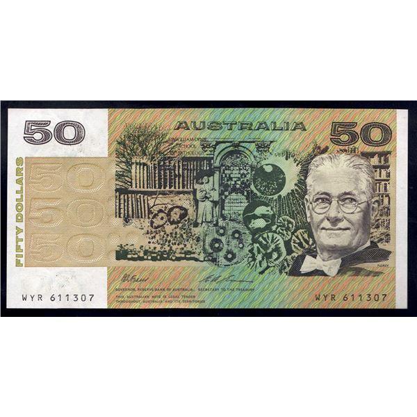 AUSTRALIA $50. 1993. Fraser-Evans. LAST PAPER DECIMAL ISSUE