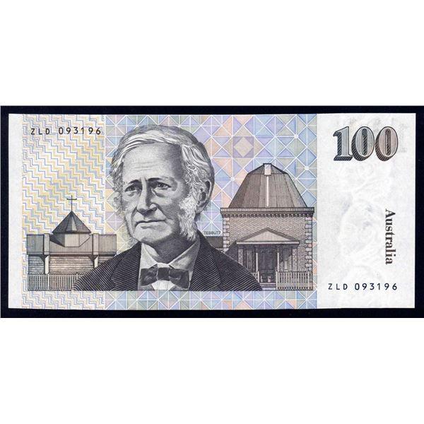 """AUSTRALIA $100. 1992. Fraser-Cole. SCARCE LAST PREFIX """"ZLD"""""""