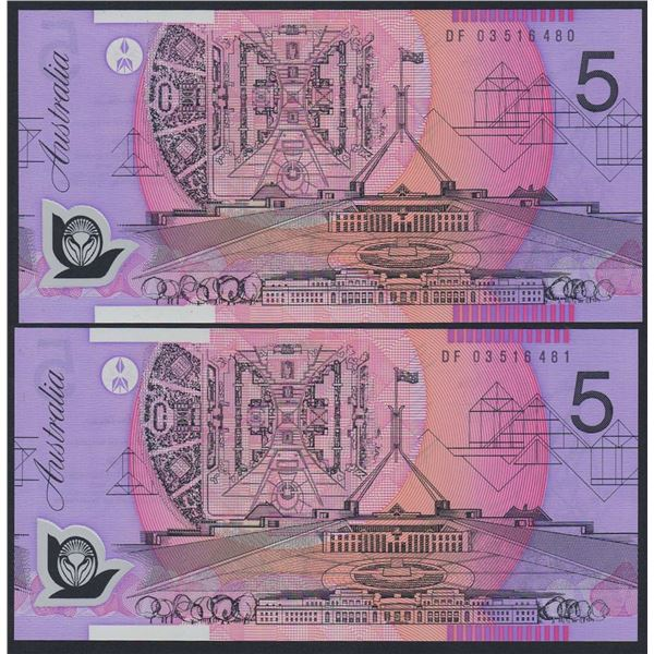 AUSTRALIA $5. 2003. Macfarlane-Henry. CONSECUTIVE PAIR