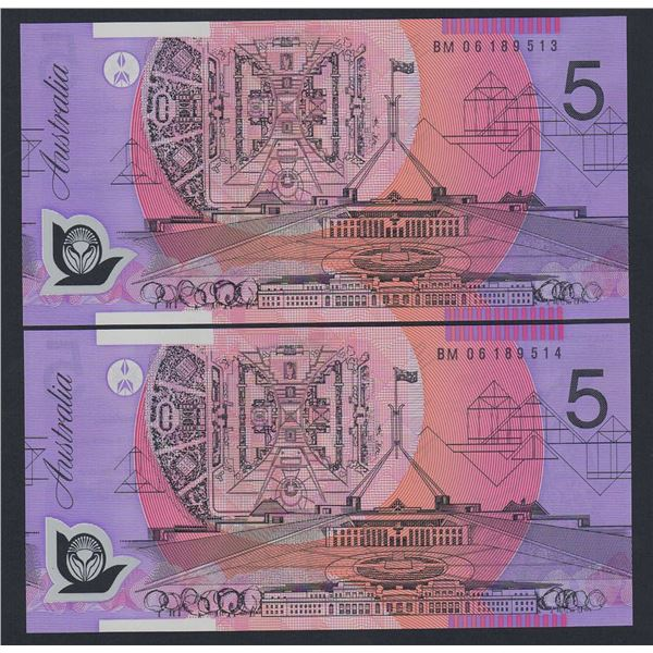 AUSTRALIA $5. 2006. Macfarlane-Henry. CONSECUTIVE PAIR